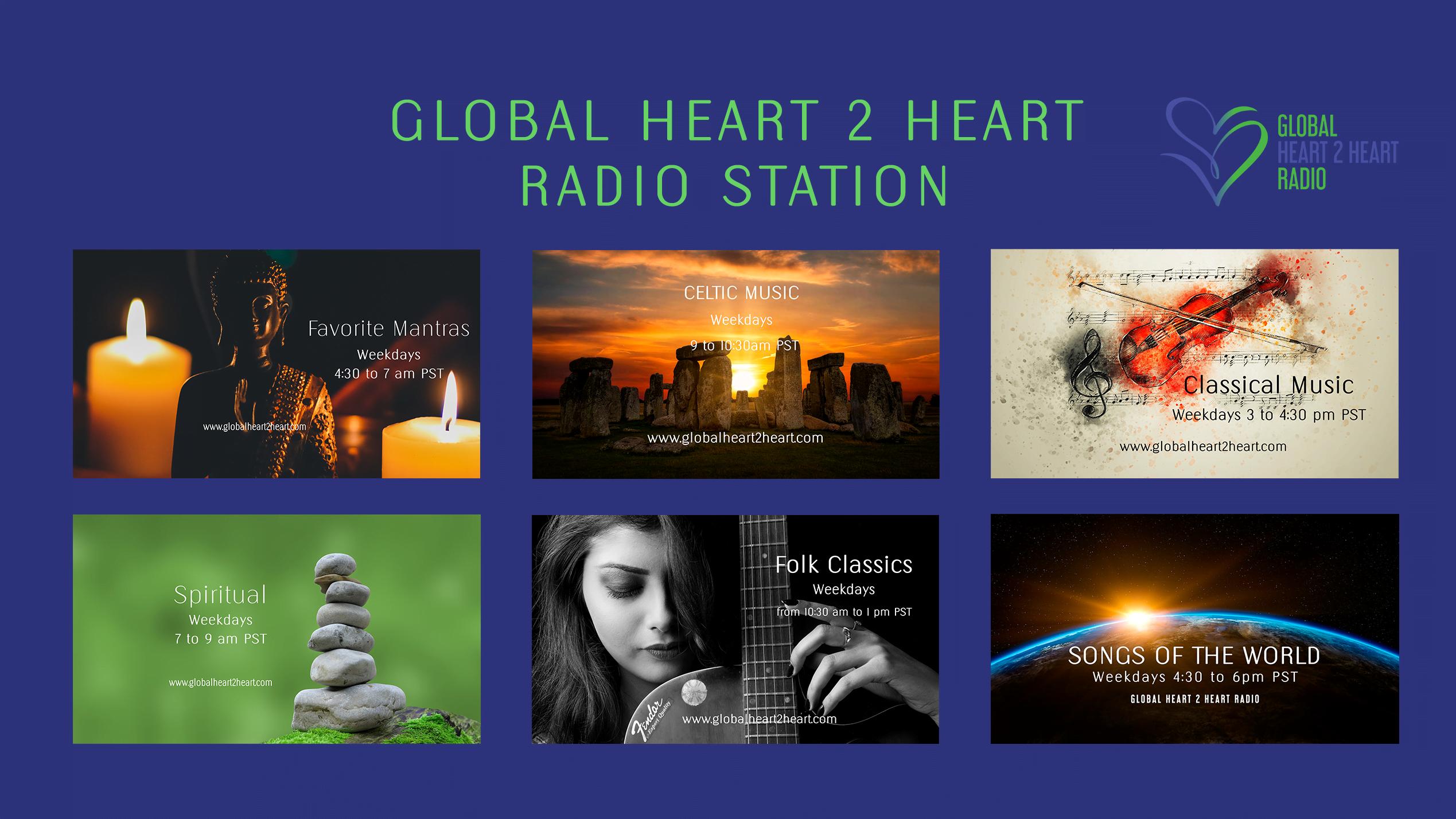 Global Heart 2 Heart Radio Schedule