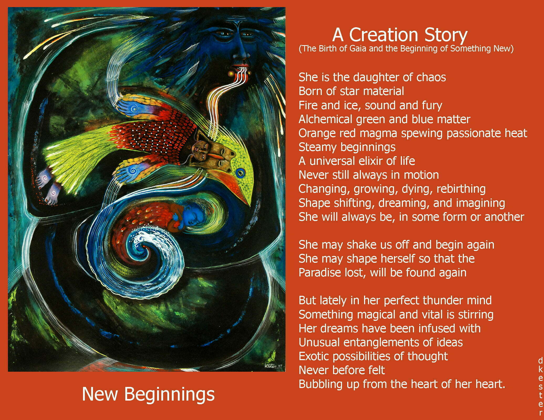Denise Kester: A Creation Story The Birth of Gaia