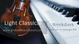 Light Classical on global heart 2 heart radio